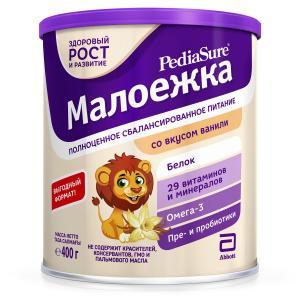 Полноценное сбалансированное питание  со вкусом ванили с 12 месяцев, 400 г, 1 шт PediaSure Малоежка
