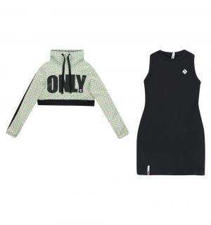 Комплект платье/свитшот , цвет: белый/зеленый Nota Bene