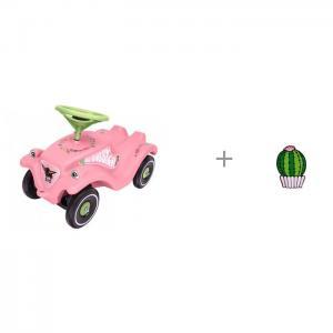 Каталка  Bobby Car Classic Розовые цветы и значок Кактус в кашпо Kawaii Factory BIG