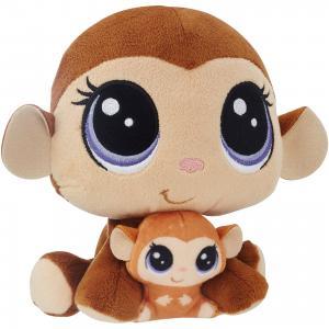 Мягкая игрушка Littlest Pet Shop Плюшевые парочки Mona Junglevine и Merry , 16 см Hasbro
