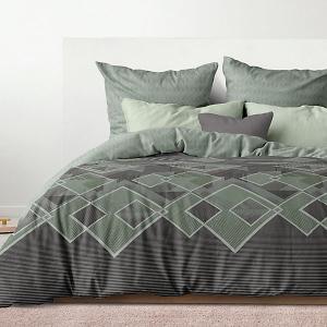 Комплект постельного белья  Бридж, евро люкс Романтика. Цвет: мятный