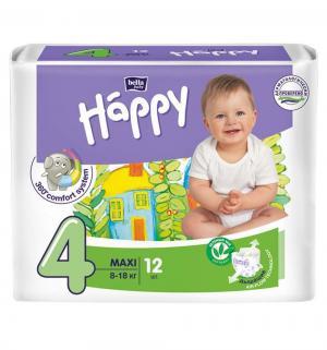 Подгузники  Baby Happy Maxi 4 (8-18 кг) 12 шт. Bella
