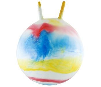 Мяч-попрыгун с ручкой Радуга 50 см Palmon