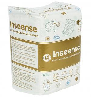 Пеленки  впитывающие 60х60 см, 12 шт Inseense