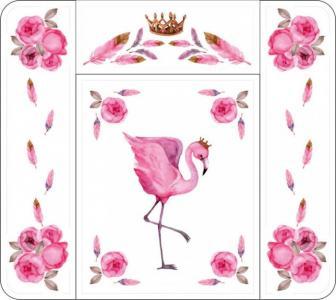 Пеленальный матрасик Фламинго Топотушки
