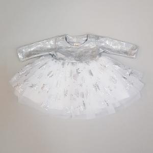 Платье для девочки Снежная феерия Снежинки набивка Ёмаё