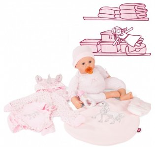 Кукла Куки пупс с аксессуарами Единорог 48 см Gotz