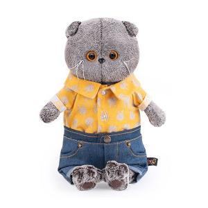 Мягкая игрушка  Басик и Ко в джинсовых шортах желтой рубашке 22 см Budi Basa