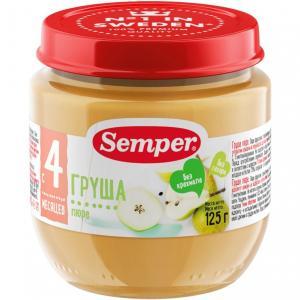 Пюре  груша с 4 месяцев, 125 г Semper