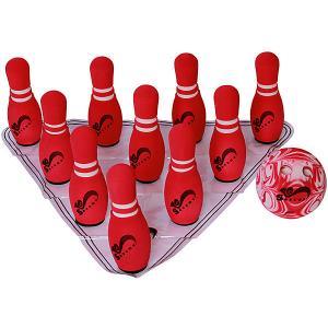 Игровой набор Safsof Мини-боулинг, в сумке. Цвет: красный