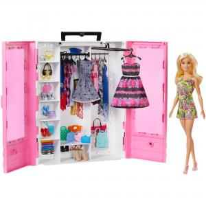 Раскладной гардероб мечты с куклой Barbie
