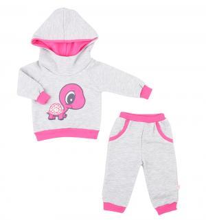 Комплект джемпер/брюки , цвет: розовый/серый Aga