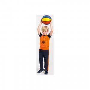 Футболка  для мальчика Goldy. Цвет: синий/оранжевый