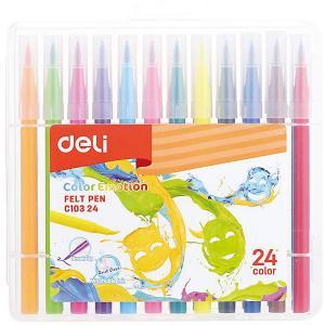 Фломастеры  Color Emotion, 24 цвета Deli. Цвет: разноцветный
