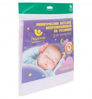 Наматрасник  для детской кроватки, 1 шт, цвет: розовый Пелигрин