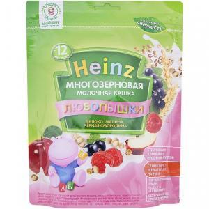 Каша  молочная многозерновая яблоко-малина-черная смородина с 12 месяцев 200 г Heinz