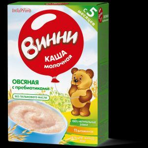 Каша  молочная Овсяная с 5 месяцев 200 г Винни