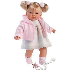 Кукла  Айтана, 33 см, со звуком Llorens. Цвет: розовый/белый