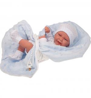 Кукла-младенец  Матео в голубом 42 см Juan Antonio
