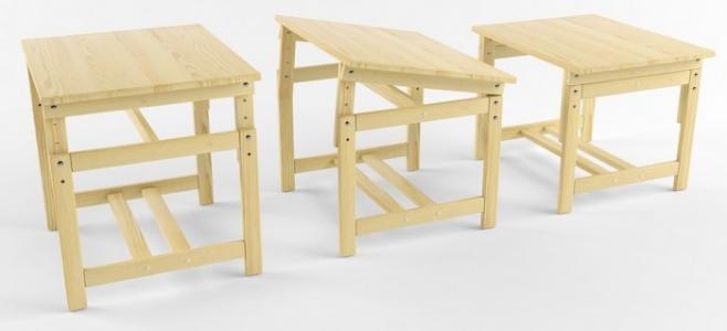 Растущая стол-парта деревянная не окрашенная Русские игрушки