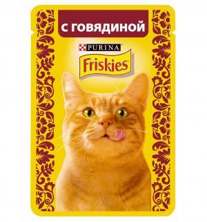 Корм влажный  для взрослых кошек, говядина, 85г Friskies