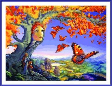 Картина по номерам на подрамнике Осенние фантазии 50х40 см Color Kit