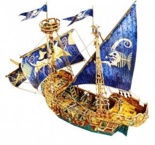 Сборная модель из картона Пиратский корабль Умная бумага