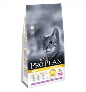 Сухой корм  Optilight для взрослых кошек с избыточным весом и склонных к полноте, индейка, 1.5кг Pro Plan