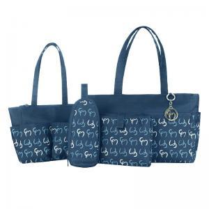 Сумки для детских принадлежностей ClevaMama Nicole Tote цвет синий 2 шт в упаковке