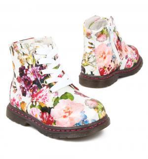 Ботинки , цвет: белый Прыг-Скок