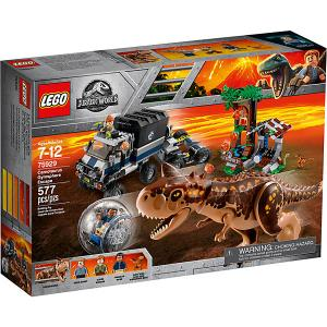 Конструктор  Jurassic World 75929: Побег в гиросфере от карнотавра LEGO