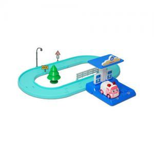 Игровой набор  Маленький трек с умной машинкой Эмбер Robocar Poli