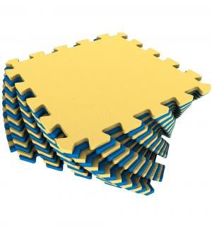 Коврик-пазл  цвет: желтый/синий (16 дет.) 100 х см Eco-cover