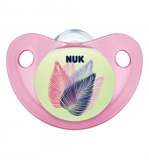 Соска-пустышка  Night&Day Для сна силикон, с рождения, цвет: розовый Nuk