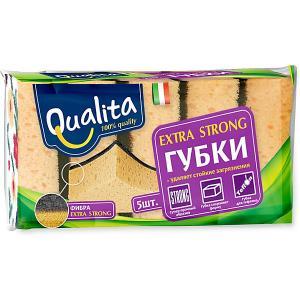 Кухонная губка QUALITA Extra Strong, 5 шт Cotton Club
