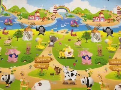 Игровой коврик  Веселая ферма №2 180х150х1 см BabyPol