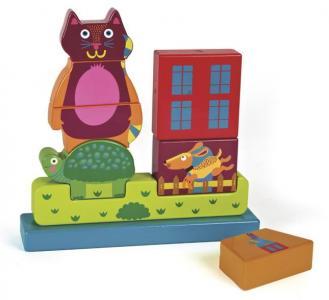 Деревянная игрушка  Пазл вертикальный Город Oops