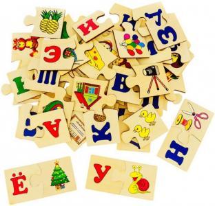 Деревянная игрушка  Пазл Азбука (66 элементов) Анданте