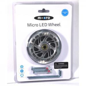 Колеса светящиеся для самоката Mini Led 120 мм 2 шт. Micro