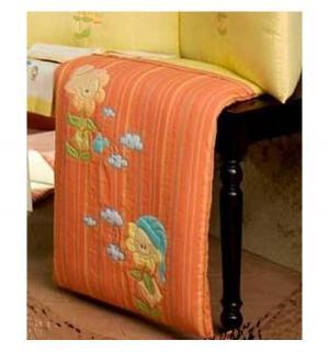 Одеяло Подсолнухи 90 х 75 см, цвет: оранжевый/желтый BabyPiu
