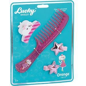 Набор аксессуаров для волос  Lucky Doggy Расчёска с Мальтезе Orange. Цвет: бирюзовый