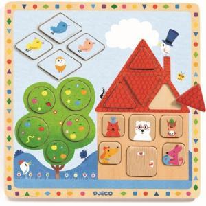 Деревянная игрушка  Рамка-вкладыш Лудигео Djeco