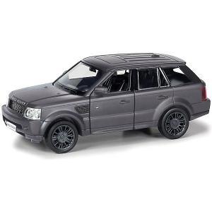 Металлическая машинка  Range Rover Sport 1:32, черный матовый RMZ City