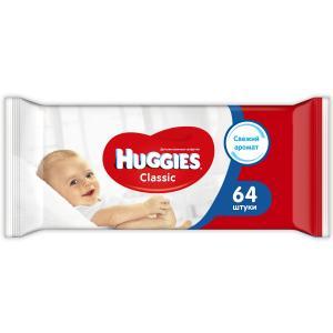 Салфетки  «Classic» влажные детские, 64 шт Huggies