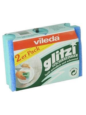 Губка  для посуды Глитци Vileda