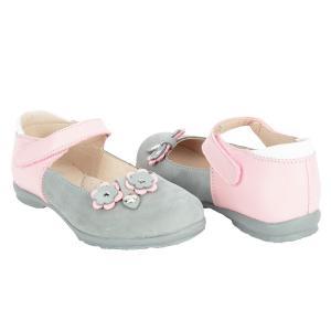 Полуботинки , цвет: розовый/серый Скороход