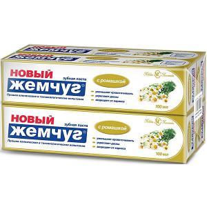 Зубная паста Новый Жемчуг С ромашкой, 100 мл, 4 шт Невская косметика
