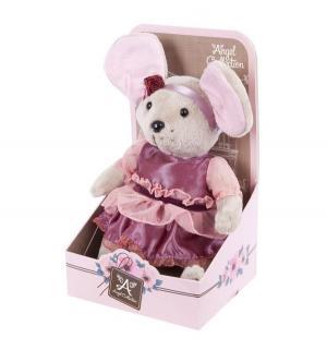 Мягкая игрушка  Lady mouse Мышка шарнирная Вишенка в малиновом платье Angel Collection