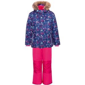 Комплект (куртка, полукомбинезон) GUSTI. Цвет: синий