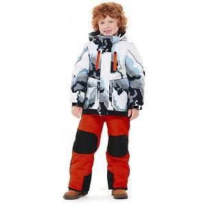Комплект Oldos Аксель: куртка и полукомбинезон. Цвет: серый/оранжевый